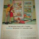 1962 Frigidaire Frost Proof Refrigerator ad