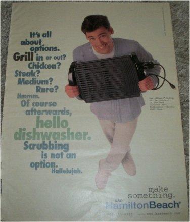 1998 Hamilton Beach Grill ad