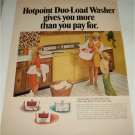1969 Hotpoint Duo-Load Washer ad