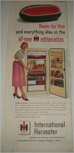 1954 International Harvester Refrigerators ad