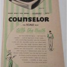 1954 Counselor Scale ad