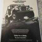1983 American Motors Jeep CJ ad