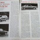 1984 American Motors Preview article