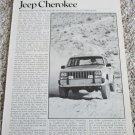 1984 American Motors Jeep Cherokee article #2