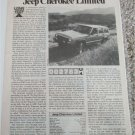 1984 Jeep Cherokee Limited article