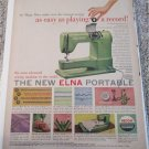 1953 Elna Portable Sewing Machine ad #1