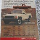 1986 American Motors Jeep Comanche Pickup truck ad #1