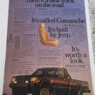 1986 American Motors Jeep Comanche Pickup truck ad #3