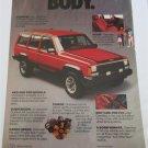1986 American Motors Jeep Cherokee Body Soul ad