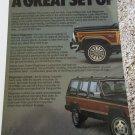 1986 American Motors Jeep Wagoneer ad