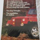 1986 American Motors Jeep Wrangler ad