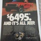 1987 American Motors Jeep Comanche Pickup truck ad #2