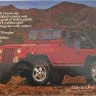 1987 American Motors Jeep Wrangler ad