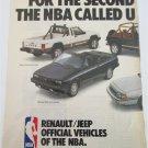 1987 American Motors Renault/Jeep Lineup ad