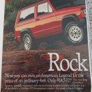 1987 American Motors Jeep Cherokee ad