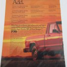 1987 American Motors Jeep Comanche Pickup truck ad #3