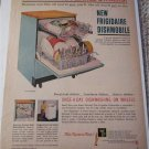 1961 Frigidaire Dishmobile Dishwasher ad