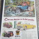 Ethyl Corporation ad featuring a 1910 American Underslung Touring car