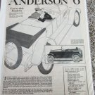 1920 Anderson 6 Convertible Roadster ad