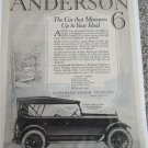 1920 Anderson 6 Touring car ad