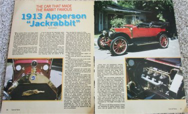 1913 Apperson Jackrabbit car article