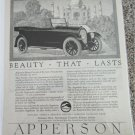 1920 Apperson Eight Touring Beauty That Last car ad