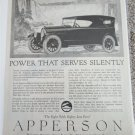 1920 Apperson Eight Touring Power That Serves Silently car ad