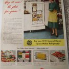 1949 GE Space Maker Refrigerator ad #1
