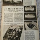 1955 Abarth Spyder car article