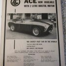 1956 AC Ace Roadster car ad
