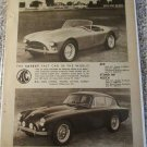 1958 AC Ace Roadster & Aceca ht car ad