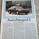 1987 Acura Integra LS car article