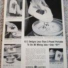 1953 GE Portable Mixer ad