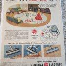 1954 GE Swivel Top Vacum Cleaner ad