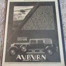 1930 Auburn Model 125 Phaeton Sedan car ad