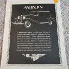 1931 Auburn 2 Door Brougham car ad