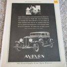 1931 Auburn Straight Eight 4 dr car ad