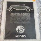 1931 Auburn Straight Eight Roadster car ad