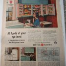 1956 GE Electric Wall Refrigerator ad