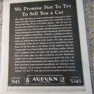 1932 Auburn car ad