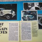 1934 Auburn 1250 Phaeton Salon car article