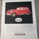 1934 Auburn Straight Eight 4 dr sedan car ad