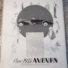 1935 Auburn Super-Charged Roadster car ad