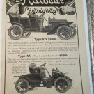 1907 Autocar Type XIV Touring & Type XV Runabout car ad