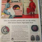 1959 GE Electric High Speed Dryer ad
