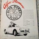 1960 Alfa Romeo Giulietta Spider car ad