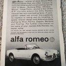 1962 Alfa Romeo car ad