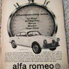 1963 Alfa Romeo Giulietta Sprint Veloce car ad