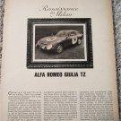 1964 Alfa Romeo Giulia TZ car article