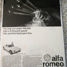 1964 Alfa Romeo Guilia Spider car ad